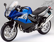 К-кт наклеек BMW F 800ST 2012 Ver.Lupin Blue Metallic