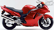 К-кт наклеек Honda CBR 1100XX 1998-1999 Ver.Candy Glory Red