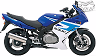 К-кт наклеек Suzuki GS 500F 2005 Ver.Candy Grand Blue/Pearl Still White
